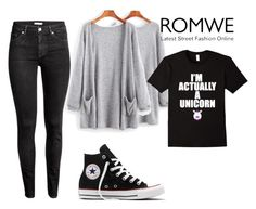 """""""Untitled #303"""" by curlycrazy13 ❤ liked on Polyvore featuring H&M and Converse"""