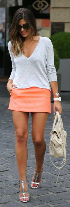 Topshop Coral Classic Diamond Texture Mini Skirt by TrendyTaste