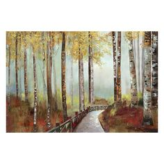 Mulberry Path Canvas Wall Art, Multicolor