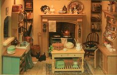 Photos of Roomboxes from the Fall 2010 Seattle Dollhouse Miniature Show: Evoking a Country Feel
