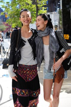 Models of Color:    Liu Wen and Bonnie Chen by Hanneli Mustaparta