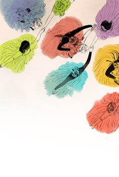 Angie Wang. Interesting idea for an art project - start with the colour blotches and turn them into figures or objects.