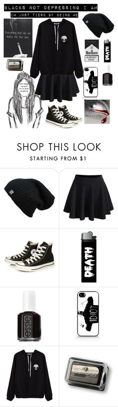 """Untitled #209"" by dannidontknowshit ❤ liked on Polyvore featuring WithChic, Converse, Essie, Samsung, injury and Laura Mercier"