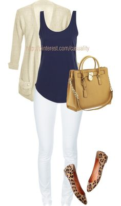 """Blue Tank & Leopard Flats"" by casuality on Polyvore"