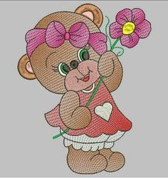 Cute Bears, Machine Embroidery Designs, Winnie The Pooh, Glass Art, Disney Characters, Fictional Characters, Patches, Teddy Bear, Clip Art