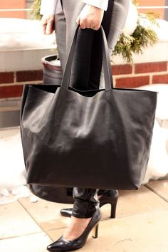 Create this leather tote. Blue crocodile leather from ebay.
