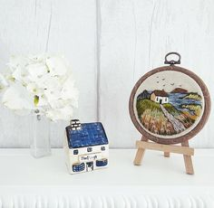 Seagull Cottage Tiny Embroidery Hoop Serene and beautiful