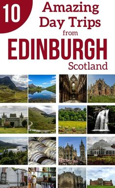 Pin Best day trips from Edinburgh Scotland Travel Guide #scotlandtravel