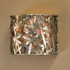 Uttermost Alita Champagne 1 Light Wall Sconce Silver leaf metal strips with black dry brushing and antique Stain Uttermost's light fixtures combine premium quality materials with unique high-style design. Traditional Wall Sconces, Contemporary Wall Sconces, Rustic Contemporary, Contemporary Interior, Modern Wall, Indoor Wall Sconces, Wall Sconce Lighting, House Lighting, Uttermost Lighting