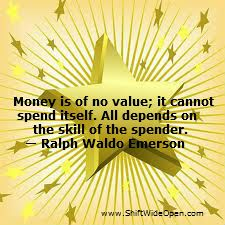Ralph Waldo Emerson money