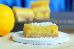 This is the BEST lemon bar recipe I've ever tried. So it's a happy coincidence they're healthy, too!!