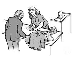 Communiceren met een dove man via een briefje