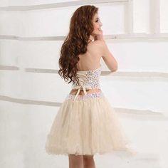 Vestido de Festa Rhinestones Crop Pop Plus Tamanho Luxo Sparkly Crytals Sexy Pink Short Dois Vestidos Prom Prom Dresses 2015