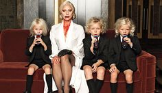 the Countess(from American Horror Horror Story) and Family ;)
