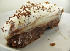 Chocolate Haupia Pie  Recipe ... I think I'll be making this tomorrow. Oh goodness Yum!