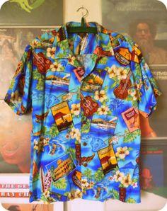 Cooles Herren PALMWAVE Hawaii Hemd Kurzarm Gr. M Hawaiishirt Shirt Surfer Beach | eBay