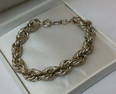 Vintage Armschmuck - Altes Kordelarmband Silberarmband Silber 835 SA272 - ein Designerstück von Atelier-Regina bei DaWanda
