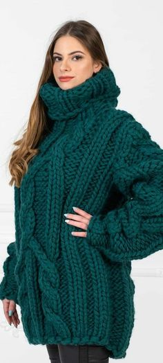 Thick Sweaters, Wool Sweaters, Sweater Outfits, Jumpers, Turtleneck, Knits, Knit Crochet, Autumn Fashion, Passion