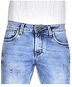 YellowJeans It's true love. Men's Slim Fit Jeans (Ice Cloud wash Effect with Ripped and Repaired Styling) Yellow Jeans, Slim Man, Clothing Accessories, True Love, Cloud, Denim Shorts, Ice, Amazon, Fitness