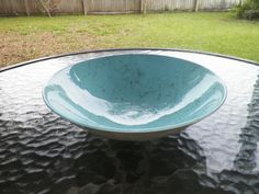 Blue Ridge Southern Pottery Blue Spiderweb Serving Bowl