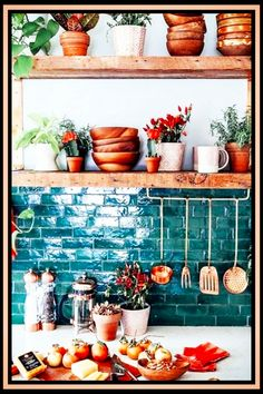 Kitchen Decorating Ideas - Doing Some DIY Decorating on a Budget? Look at these gorgeous farmhouse kitchen redecorating ideas for YOUR kitchen. Love the tile backsplash, open rustic wooden shelves! Diy Kitchen Decor, Kitchen On A Budget, Kitchen Design, Kitchen Ideas, Basic Kitchen, Kitchen Tile, Diy Kitchen Shelves, Long Kitchen, Smart Kitchen