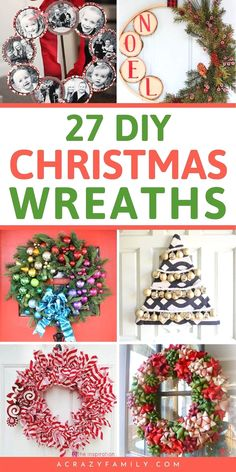 Your Christmas decorations won't be complete without these creative and affordable DIY Christmas wreaths. #christmasdiy