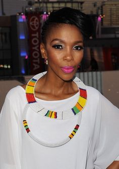 Five minutes with Nhlanhla Nciza African Dresses For Women, African Attire, African Women, African Fashion, Nigerian Fashion, Ghanaian Fashion, African Necklace, African Beads, African Jewelry