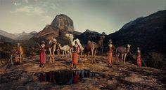 Peuple de Samburu, au nord du Kenya