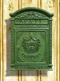 Vintage Mailbox Canvas Print / Canvas Art by Cristophers Dream Artistry Old Mailbox, Antique Mailbox, Vintage Mailbox, Victorian Mailboxes, Post Bus, Unique Mailboxes, Laurel, Mounted Mailbox, Deco Originale