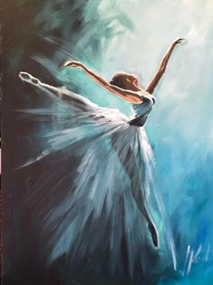 This sort of painting, large in a lounge. Ballerina Kunst, Ballet Illustration, Ballerina Painting, Dance Paintings, Paint Photography, Expressive Art, Dance Pictures, Dance Art, Acrylic Art