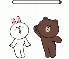 The perfect ILoveYou Cony Brown Animated GIF for your conversation. I Love You Funny, Love You Gif, Cute Love Gif, Cute Love Pictures, Cute Bunny Cartoon, Cute Couple Cartoon, Cute Cartoon Characters, Cute Love Cartoons, Calin Gif