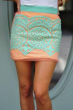Laced Below The Waist Skirt: Multi