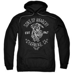 Sons Of Anarchy Fabric Print Mens Pullover Hoodie