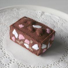 Felt Play Food, Rocky Road, Pretend Food, Chocolate Toy, Pretend Play, Felt Food, Marshmallows, Slice, Bakery, Sweets, Candy, Fudge