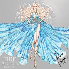 """The mother of Dragons """"Daenerys Targaryen"""". Game of Thrones fashion collection by Guillermo Meraz. Check out in my deviantart page all the versions with no backgrpuns."""