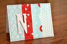 Fabric Scrap Notecards - such a cute idea for using up fabric scraps