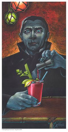 Doug Horne limited edition print. Dracula Bela by DougHorneArt