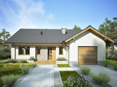 Dream House Plans, Small House Plans, Small House Design, Modern House Design, Bungalow, Home Design Plans, Facade House, Gazebo, Cottage