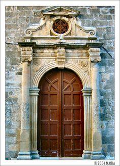 Europe Greece Ionian Islands Lefkada   Lefkada - A very old door by Maritsa