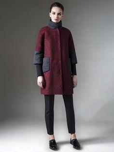 Пальто женское демисезонное цвет мультиколор, Пальтовая ткань, артикул 1017200p10490
