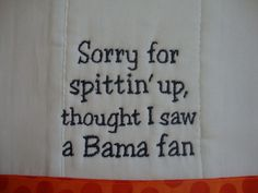Auburn Tiger Burp Cloth by CoughlinCrafts on Etsy, $12.00