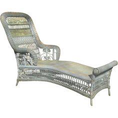 rare antique victorian wicker chaise lounge circa 1890u0027s
