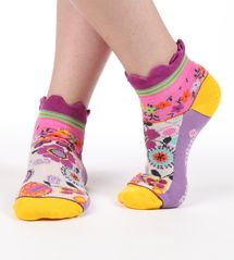Retro flower seriously silly cotton ankle socks by Dub & Drino