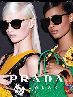 3c2cbcdafcb51 PHOTOS - Cindy a décroché la dernière campagne Prada Eyewear spring summer