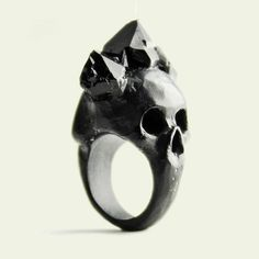 Products | Macabre Gadgets fashion Jewelry Black bifacial skull ring