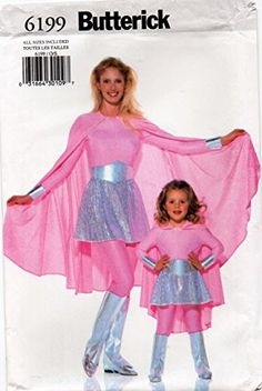Butterick 6199 Children's Girl's Misses' Super Hero Heroine Costume Sewing Pattern All Sizes BUTTERICK Sewing Patterns For Kids, Mccalls Sewing Patterns, Simplicity Sewing Patterns, Baby Patterns, Vintage Sewing Patterns, Dress Patterns, Victorian Gown, Girls Sleepwear, Fit N Flare Dress