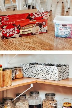 I love seeing beautiful boxes and baskets in well organized pantries; but wow, can those get expensive!! Check out this budget friendly cardboard storage box makeover idea. Cardboard Storage, Diy Storage Boxes, Pantry Storage, Pantry Organization, Ruffle Curtains, Pantries, Organizing Your Home, Getting Organized, Repurposed