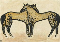 Two Spotted Horses - Sanyu - WikiArt.org