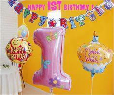 【送料無料 関東】1歳 誕生日 バルーン 1歳の誕生日 1才バルーン 1歳の誕生会 1歳の誕生日プレゼント 1歳の誕生日記念 1才バルーン ファーストバースデー☆1歳のお誕生日会セット☆(女の子)