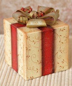 Look what I found on #zulily! Gift Box Décor by Your Heart's Delight #zulilyfinds